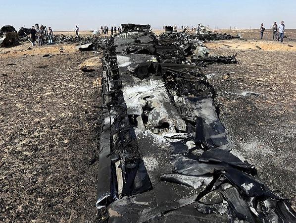 Hiện trường vụ tai nạn của chiếc máy bay Airbus A321 của Nga tại Ai Cập