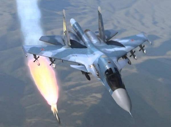 Máy bay ném bom tiền tuyến Su-34 của Nga
