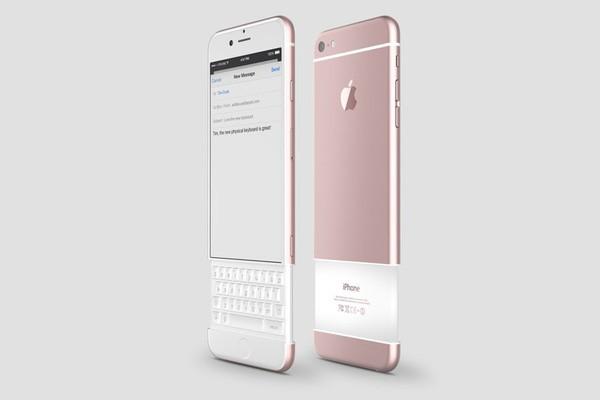 Concept iPhone 7 lấy cảm hứng từ BlackBerry Priv