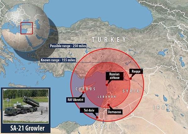 Hệ thống phòng không S-400 Nga có phạm vi bao trùm miền nam Thổ Nhĩ Kỳ