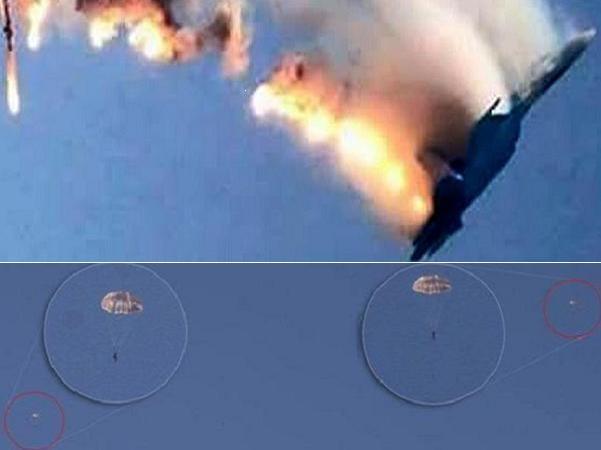 Một phi công Nga đã bị bắn chết khi đang nhảy dù, người còn lại đã được cứu thoát