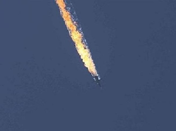 Chiếc máy bay ném bom Su-24 của Nga bị bắn hạ tại Syria