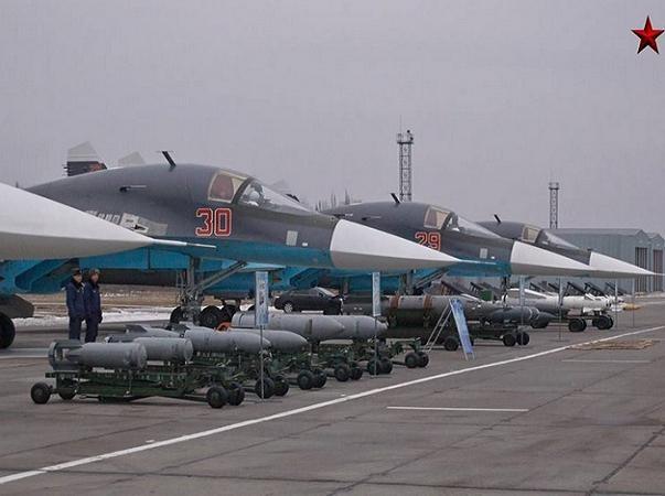 Máy bay ném bom tiền tuyến Su-34 của Nga đang tham chiến tại Syria