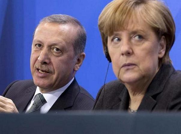 Tổng thống Thổ Nhĩ Kỳ Erdogan và Thủ tướng Đức Angela Merkel