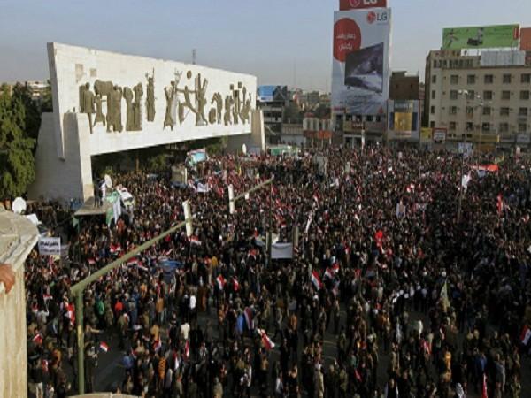 Người dân Iraq biểu tình phản đối Thổ Nhĩ Kỳ đóng quân trên lãnh thổ của mình ảnh 1