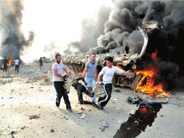 Một vụ đánh bom xảy ra tại Syria năm 2012