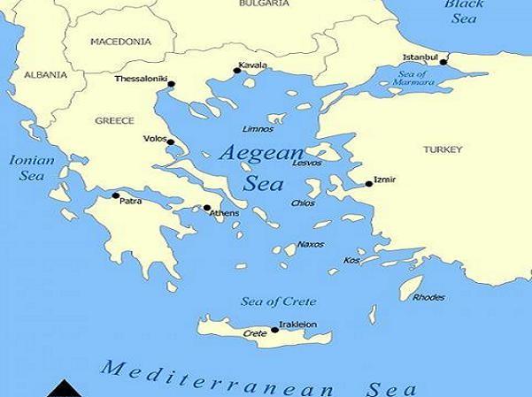 Sự kiện xảy ra ở vùng biển Aegean, cách đảo Lemnos (Hy Lạp) 22 km