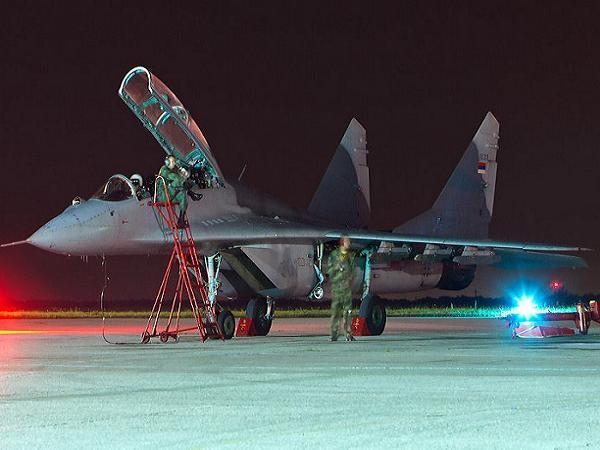 Một chiếc máy bay chiến đấu MiG-29 của không quân Serbia