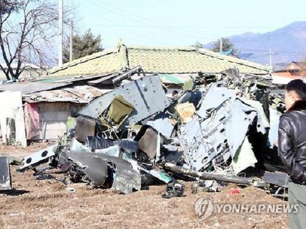 Hiện trường vụ rơi trực thăng UH-1H của Hàn Quốc