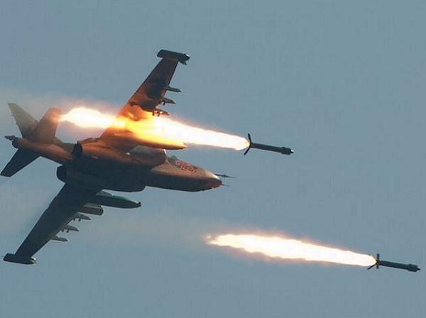 Máy bay chiến đấu Su-25 của Nga không kích tại Syria