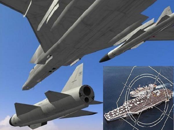 Máy bay ném bom Tu-22M3 của Nga có thể diệt tàu sân bay Mỹ chỉ bằng 1 quả tên lửa Raduga Kh-22 Burya