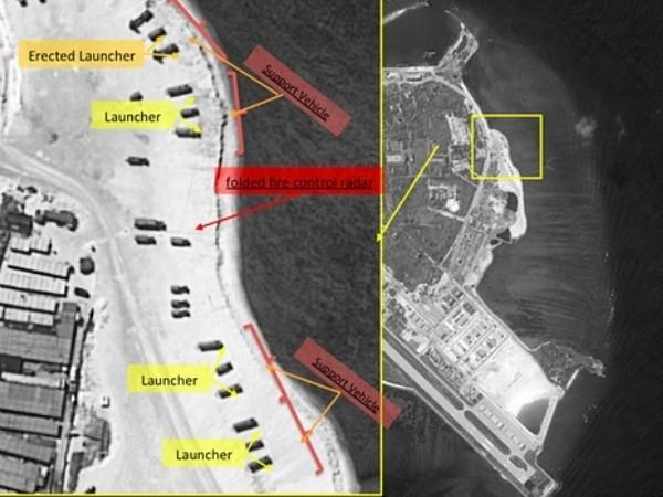 Ảnh chụp gần đây cho thấy Trung Quốc đã triển khai tên lửa trái phép trên đảo Phú Lâm, thuộc quần đảo Hoàng Sa, Việt Nam