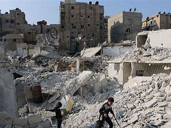 Nhiều thành phố của Syria bị san phẳng sau các cuộc không kích (Ảnh minh họa)