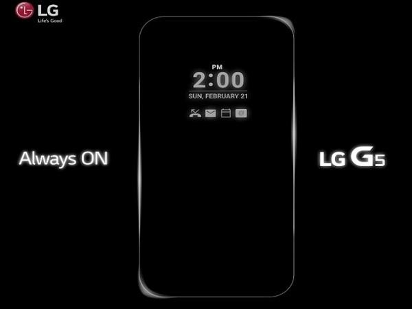 """""""Soi"""" tính năng Always On của LG G5 ảnh 1"""