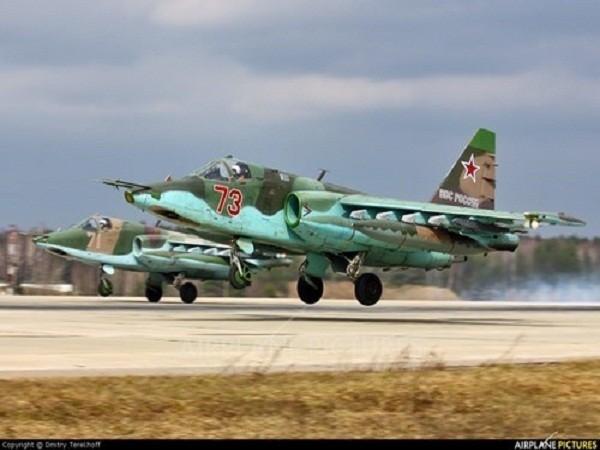 Máy bay cường kích Su-25 của quân đội Nga