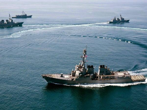 Tàu khu trục USS Lassen của hải quân Mỹ tham gia một cuộc diễn tập (Ảnh minh họa)