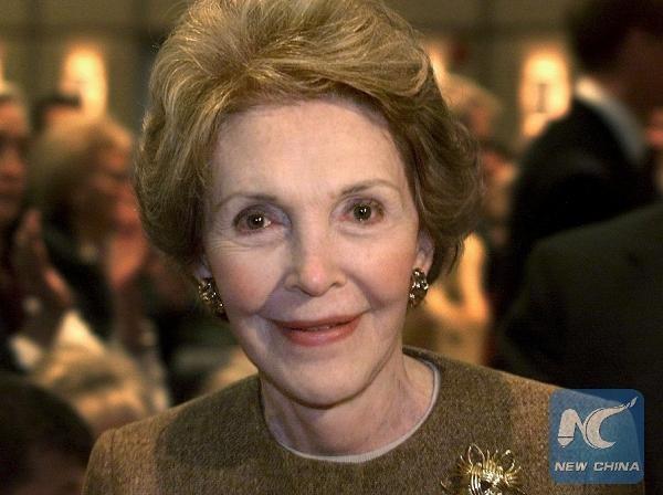 Cựu đệ nhất phu nhân Mỹ Nancy Reagan