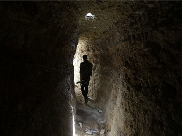 Một đường hầm của lực lượng khủng bố ở Syria