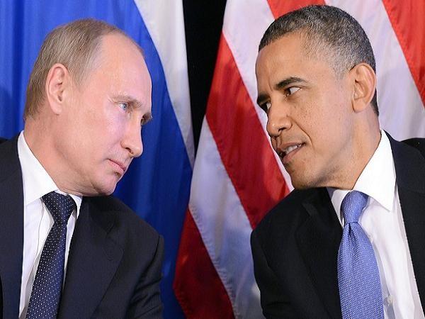 Tổng thống Nga Vladimir Putin và Tổng thống Mỹ Barack Obama