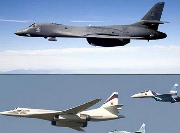 Tu-160 của Nga được cho là có uy lực mạnh hơn nhiều so với loại máy bay đồng hạng B-1 Lancer (bên trên) của Mỹ
