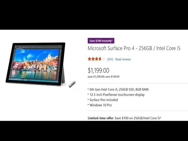 Tiết kiêm 100 USD khi mua Surface Pro 4 qua Microsoft Store ảnh 2