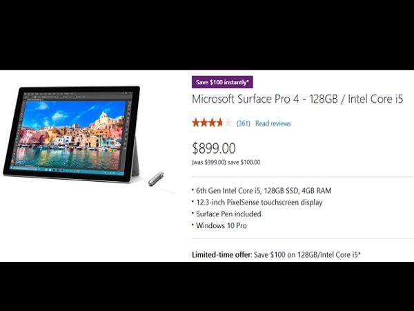Tiết kiêm 100 USD khi mua Surface Pro 4 qua Microsoft Store ảnh 1
