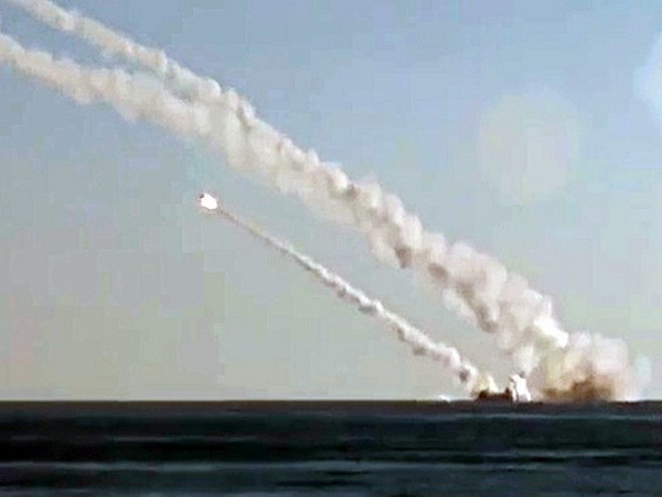 Tàu ngầm Rostov-on-Don của Nga phóng tên lửa 3M-54 Kalibr (Ảnh minh họa)