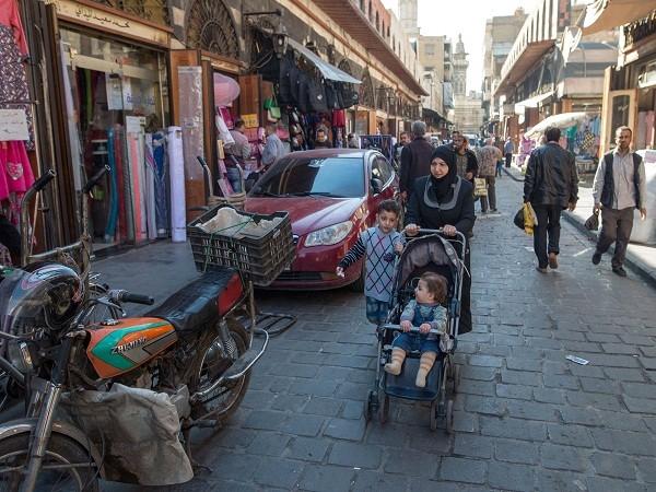 Cảnh yên bình tại một con phố ở Syria