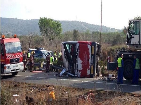 Hiện trường vụ tai nạn thảm khốc ở Tây Ban Nha ngày 20-3