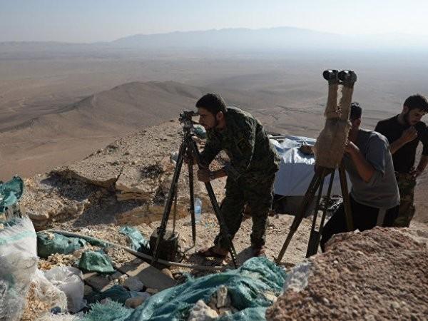 Vị trí của quân đội Syria gần Palmyra