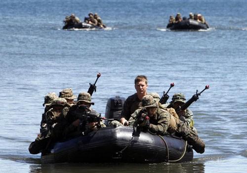Lực lượng thủy quân lục chiến Mỹ - Philippenes trong một cuộc diễn tập