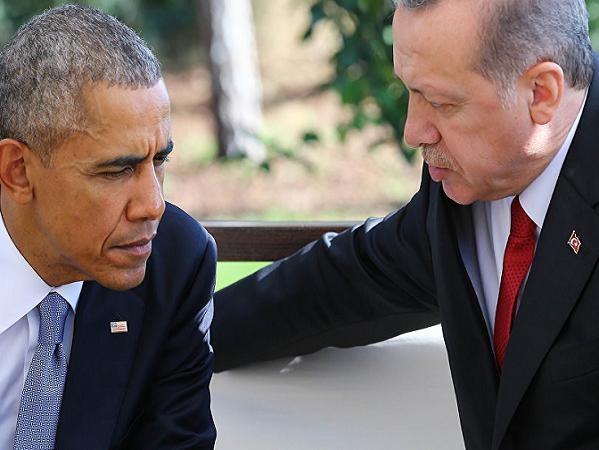 Tổng thống Barack Obama và Tổng thống Recep Tayyip Erdogan tại một cuộc gặp