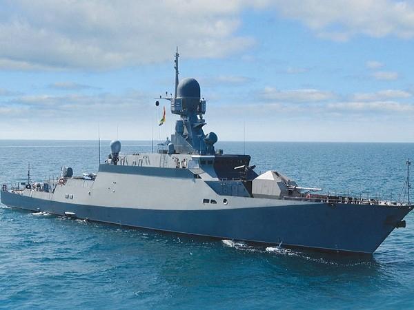 Một tàu hộ tống lớp Buyan của hải quân Nga