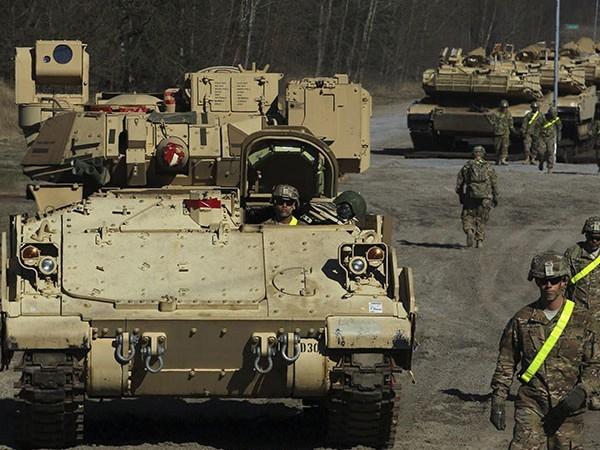 Mỹ đưa số lượng lớn xe tăng chiến đấu chủ lực M1 Abrams tới tham gia cuộc tập trận tại tây bắc Ba Lan