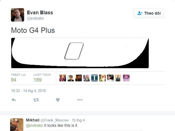 Rò rỉ hình ảnh Moto G4 Plus trước ngày ra mắt ảnh 1