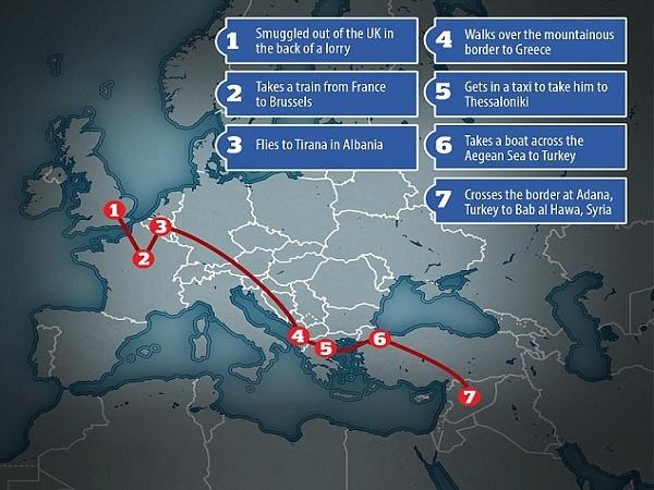 """Chi tiết hành trình dễ dàng đi từ Anh đến Syria của """"John thánh chiến"""" ảnh 3"""