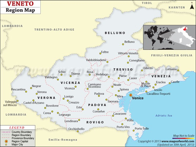 Khu vực Veneto của Italia đã công nhận Crimea thuộc lãnh thổ Liên bang Nga