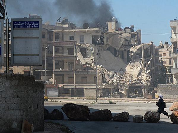 Một góc thành phố Aleppo của Syria bị phiến quân tấn công