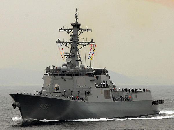 Tàu khu trục mang tên lửa Sejong Đại đế của hải quân Hàn Quốc