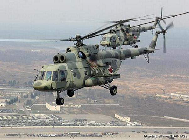 Máy bay trực thăng vận tải hạng trung Mi-8 của không quân Nga