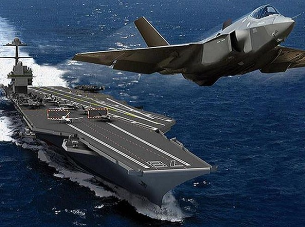 Siêu tàu sân bay CVN-78 Gerald R.Ford có thể mang 75 máy bay các loại, trong đó có tiêm kích tàng hình thế hệ 5 là F-35C