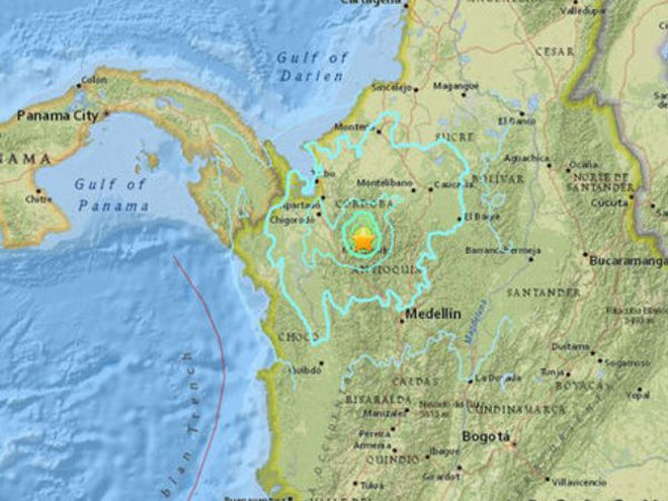 Động đất 6 độ Richter làm rung chuyển Colombia ảnh 1