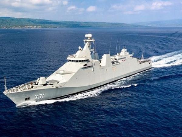 Khinh hạm SIGMA 10514 đầu tiên của Indonesia chạy thử trên biển Java
