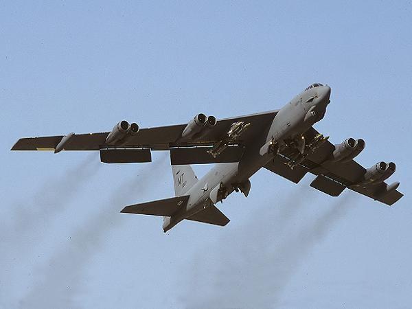 Chiếc máy bay ném bom B-52H số hiệu 61-0007 khi còn hoạt động