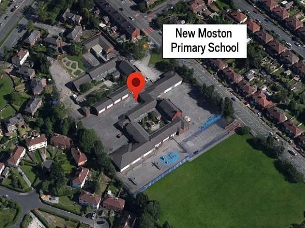 Trường tiểu học New Moston ở Manchester, nơi xảy ra vụ việc đau lòng