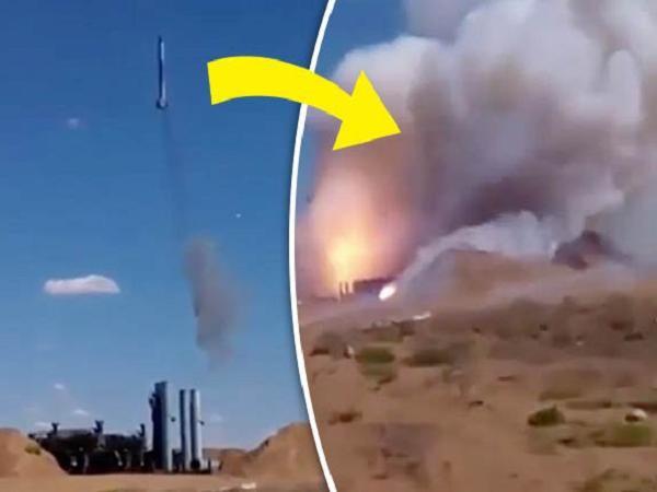 Hình ảnh vụ nổ tên lửa S-300 của Nga cắt từ video