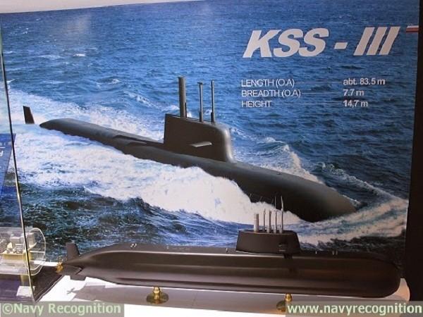 Mô hình tàu ngầm tấn công lớp Chang Bogo-III của Hàn Quốc