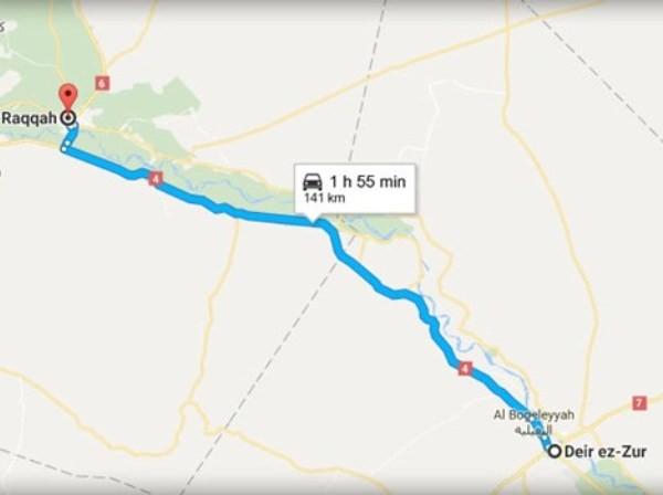 Không quân Syria phá hủy đoàn xe quân sự của IS ở Deir Ezzur ảnh 1