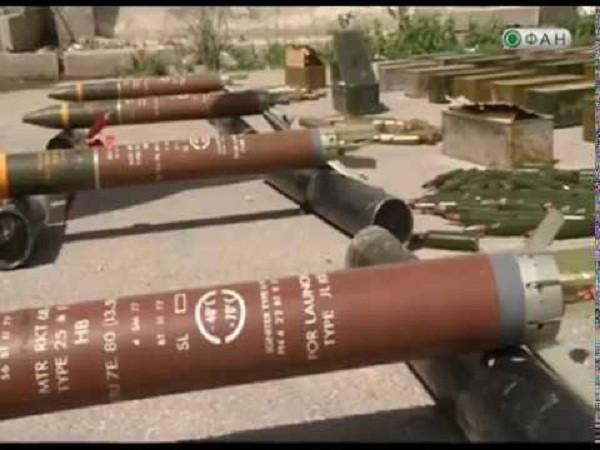 Quân đội Syria tịch thu một số lượng vũ khí lớn của phiến quân ảnh 1