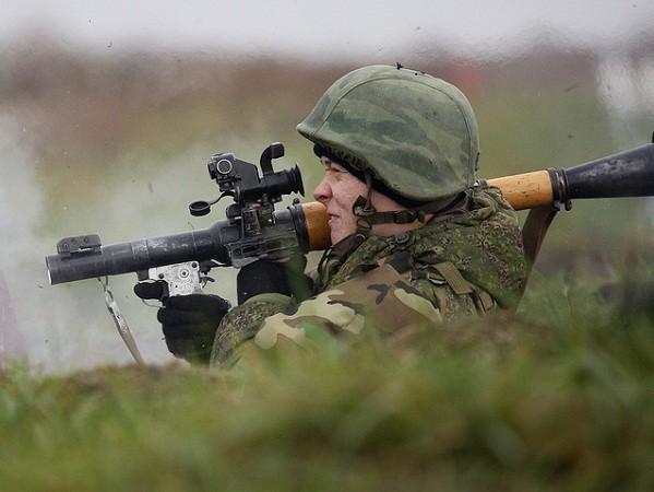 Lính thủy đánh bộ của Hạm đội Baltic Nga tham gia tập trận